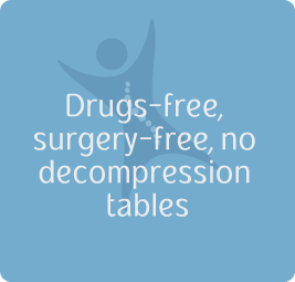 Drugs-free, surgery-free, no decompression tables