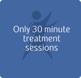 Only 30 minute treatment sessions