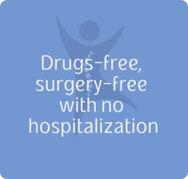 Drugs-free, surgery-free with no hospitalization