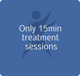 Only 15min treatment sessions